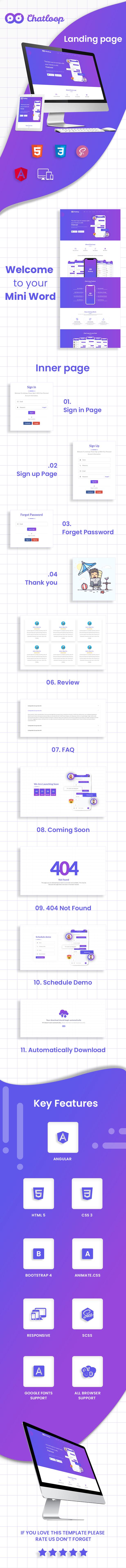 Chatloop app landing page