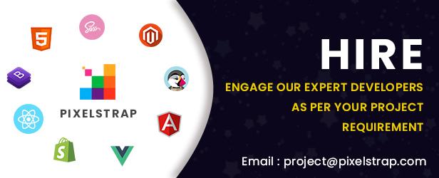 hire ecpert devloper of angular, vue, react , magento, prestashop, shpify, bootstrap, html, sass, scss