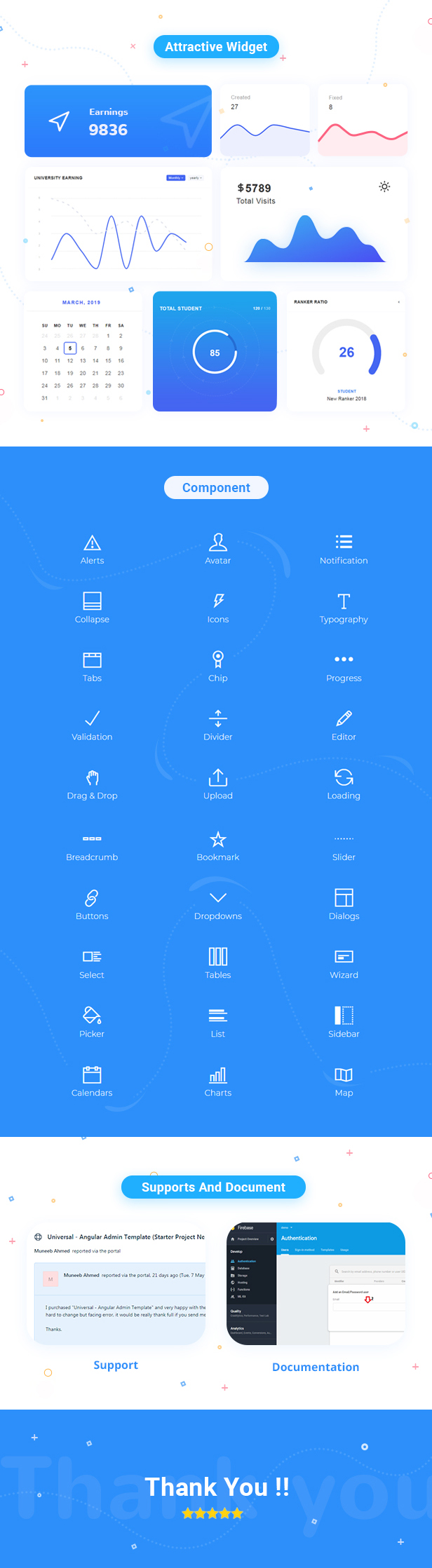 Endless Angular Admin Dashboard theme